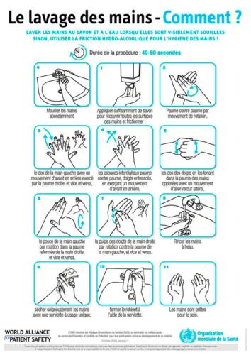 Recommandations lavage des mains en cas d'épidémie